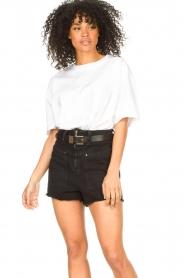 ba&sh |  Oversized cotton T-shirt Amor | white  | Picture 2