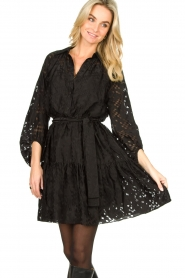 Second Female |  Semi sheer dress Harlie | black  | Picture 4