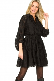 Second Female |  Semi sheer dress Harlie | black  | Picture 2