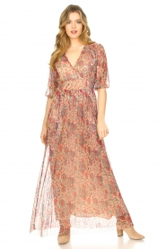 ba&sh |  Silk maxi dress with lurex Athena   | Picture 4