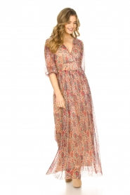 ba&sh |  Silk maxi dress with lurex Athena   | Picture 3