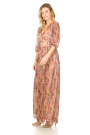 ba&sh |  Silk maxi dress with lurex Athena   | Picture 5