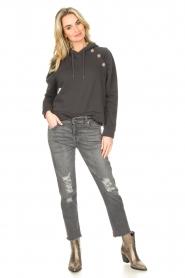 ba&sh |  Sweater with rhinestones Bora | black  | Picture 3