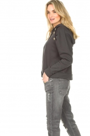 ba&sh |  Sweater with rhinestones Bora | black  | Picture 7