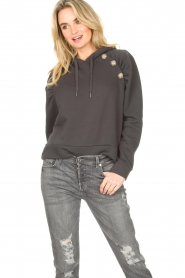 ba&sh |  Sweater with rhinestones Bora | black  | Picture 4