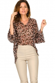 Second Female |  Floral top Fleurir | black  | Picture 4