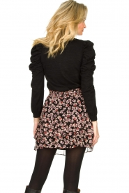 Second Female |  Lurex sweater with puff sleeves Ytta | black  | Picture 5