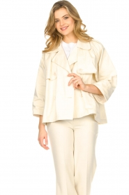 ba&sh |  Cotton trenchcoat Brone | natural  | Picture 5