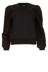 Second Female |  Sweater met puff sleeves Carmella | black  | Picture 1