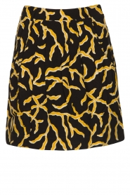 ba&sh |  Printed skirt Clemy | black  | Picture 1