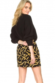 ba&sh |  Printed skirt Clemy | black  | Picture 6