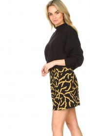 ba&sh |  Printed skirt Clemy | black  | Picture 5