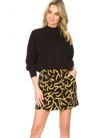 ba&sh |  Printed skirt Clemy | black  | Picture 4