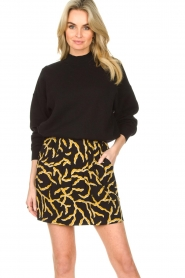 ba&sh |  Printed skirt Clemy | black  | Picture 2