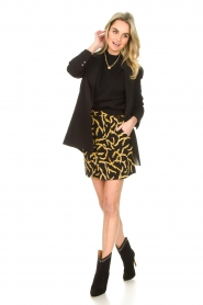 ba&sh |  Printed skirt Clemy | black  | Picture 3