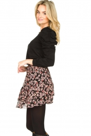 Second Female |  Floral skirt Fleurir | black  | Picture 4