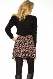Second Female |  Floral skirt Fleurir | black  | Picture 5
