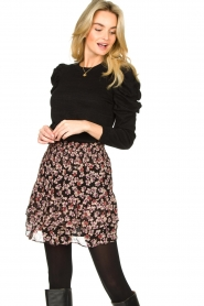 Second Female |  Floral skirt Fleurir | black  | Picture 2