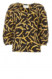 ba&sh |  Printed blouse Clea | black  | Picture 1