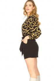 ba&sh |  Printed blouse Clea | black  | Picture 4
