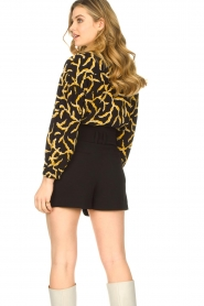 ba&sh |  Printed blouse Clea | black  | Picture 5