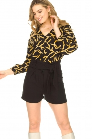 ba&sh |  Printed blouse Clea | black  | Picture 2