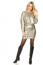 Second Female |  Metallic dress Pearl | light gold  | Picture 3
