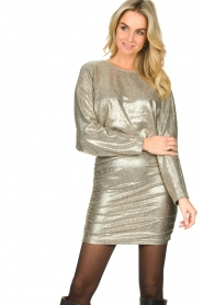 Second Female |  Metallic dress Pearl | light gold  | Picture 2