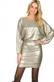Second Female |  Metallic dress Pearl | light gold  | Picture 4