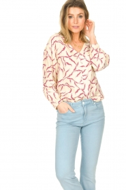 ba&sh |  Printed blouse Clea | natural  | Picture 4