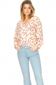 ba&sh |  Printed blouse Clea | natural  | Picture 2