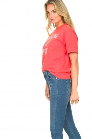 ba&sh |  Cotton printed T-shirt Elie | red  | Picture 5