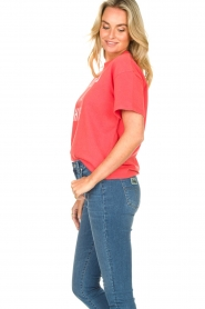 ba&sh |  Cotton printed T-shirt Elie | red  | Picture 6