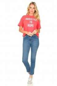 ba&sh |  Cotton printed T-shirt Elie | red  | Picture 3