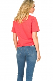 ba&sh |  Cotton printed T-shirt Elie | red  | Picture 7