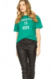 ba&sh |  Cotton printed T-shirt Elie | green  | Picture 2