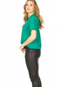 ba&sh |  Cotton printed T-shirt Elie | green  | Picture 5