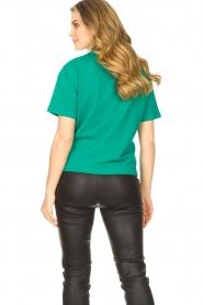 ba&sh |  Cotton printed T-shirt Elie | green  | Picture 6