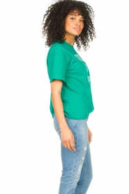 ba&sh |  Cotton printed T-shirt Elie | green  | Picture 6