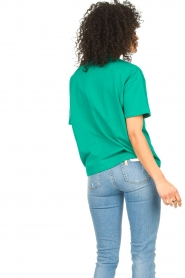 ba&sh |  Cotton printed T-shirt Elie | green  | Picture 7