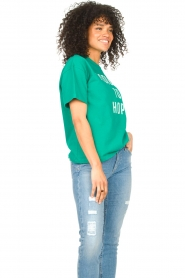 ba&sh |  Cotton printed T-shirt Elie | green  | Picture 5