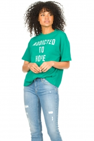 ba&sh |  Cotton printed T-shirt Elie | green  | Picture 2