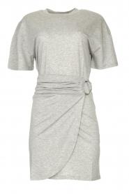 ba&sh |  T-shirt dress with waistbelt Erika | grey  | Picture 1