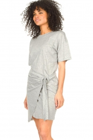 ba&sh |  T-shirt dress with waistbelt Erika | grey  | Picture 4