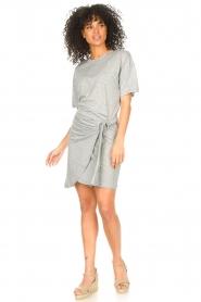 ba&sh |  T-shirt dress with waistbelt Erika | grey  | Picture 3
