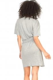 ba&sh |  T-shirt dress with waistbelt Erika | grey  | Picture 6
