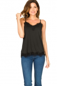 CC Heart |  Top met kant Puck | black  | Picture 2