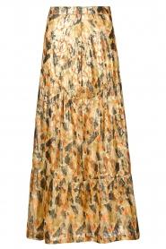 ba&sh |  Maxi skirt with lurex Galina | yellow  | Picture 1