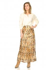 ba&sh |  Maxi skirt with lurex Galina | yellow  | Picture 4