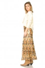 ba&sh |  Maxi skirt with lurex Galina | yellow  | Picture 5